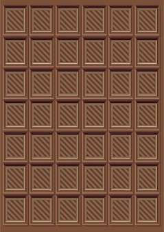 Modèle de barre de chocolat délicieux brun