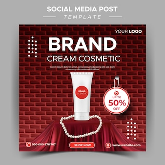 Modèle de beauté pour les médias sociaux