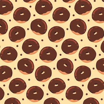 Modèle de beignets au chocolat dessinés à la main