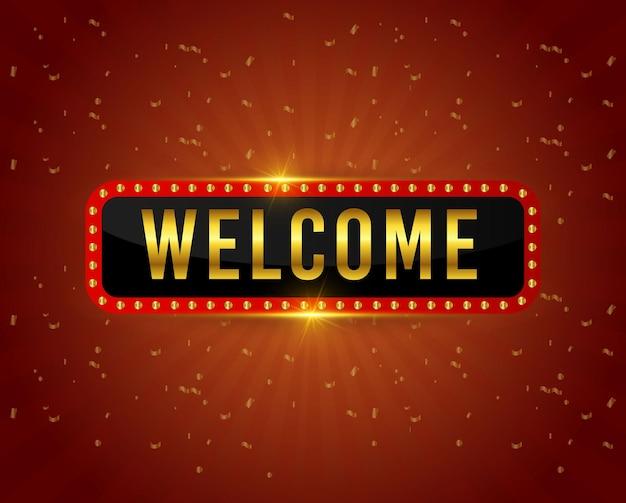 Modèle de bienvenue.