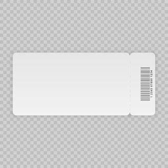 Modèle de billet isolé sur un fond transparent