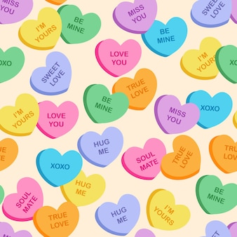 Modèle de biscuits coeur