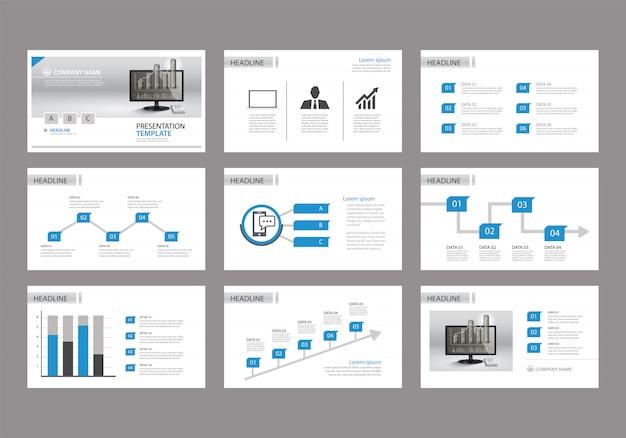 Modèle bleu pour la présentation de diapositives sur le fond.
