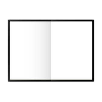 Modèle de bloc-notes a4 illustration vectorielle isolée page blanche étalée avec une lumière réaliste