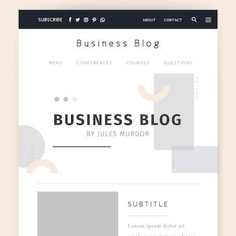 Modèle de blog d'entreprise