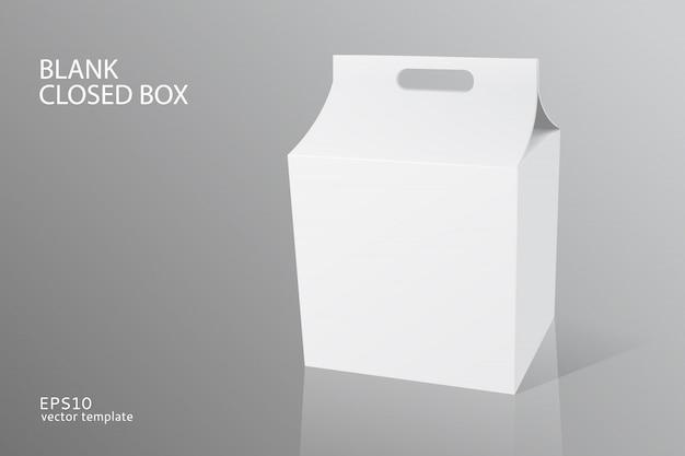 Modèle de boîte fermée d'emballage vide