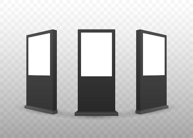 Modèle de boîte à lumière réaliste. panneau d'affichage publicitaire extérieur