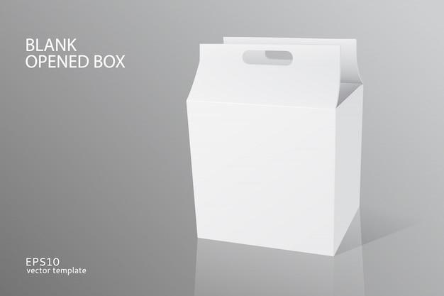 Modèle de boîte ouverte d'emballage vide