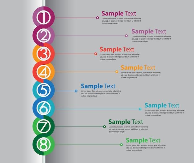 Modèle de boîte de texte moderne