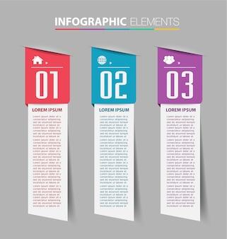Modèle de boîte de texte papier, bannière infographie