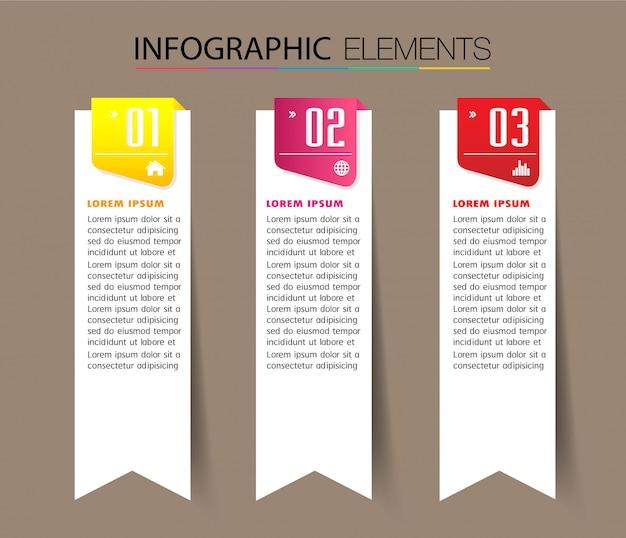 Modèle de boîte de texte papier, bannière infographique
