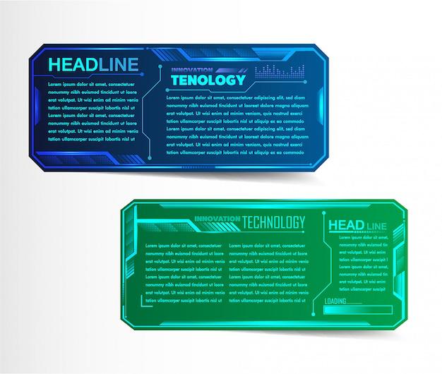 Modèle de boîte de texte papier moderne, bannière de circuit infographique