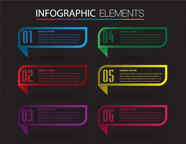 Modèle de boîte de texte papier moderne, bannière infographique