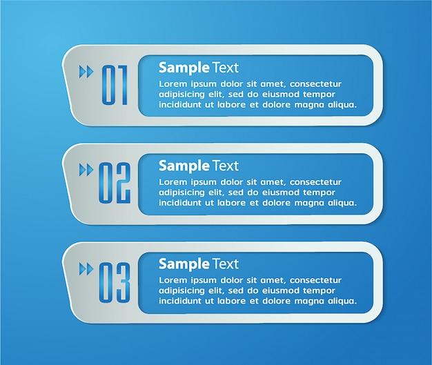Modèle de boîte de texte papier