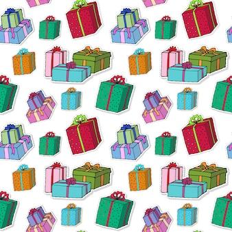 Modèle de boîtes de cadeau de noël