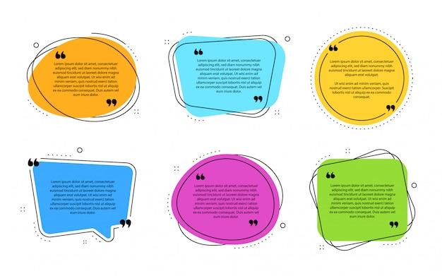 Modèle de boîtes de texte