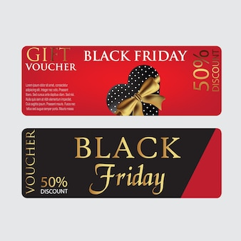 Modèle de bon de carte vendredi noir