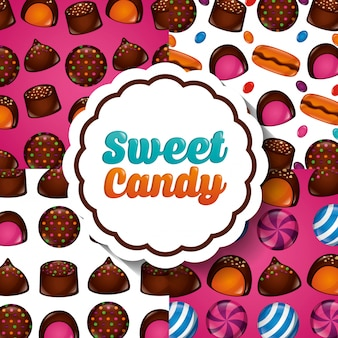 Modèle de bonbon sucré