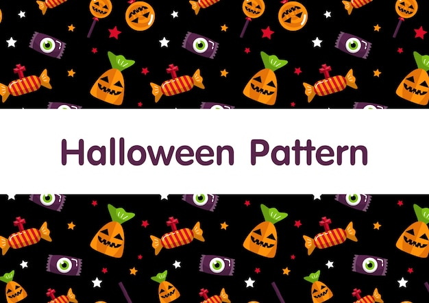 Modèle de bonbons d'halloween