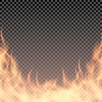 Modèle de bordure brûlante pour bannière ou illustration