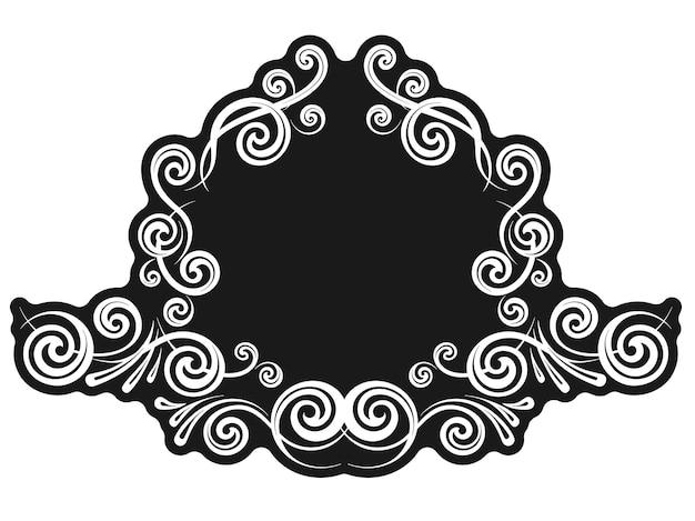 Modèle de bordure calligraphique décorative vintage pour cartes de voeux et menu