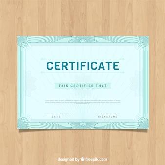 Modèle de bordure de certificat vintage