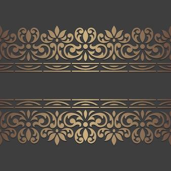 Modèle de bordure vintage orné.