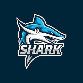 Modèle de bouclier de mascotte de jeu de requin esport