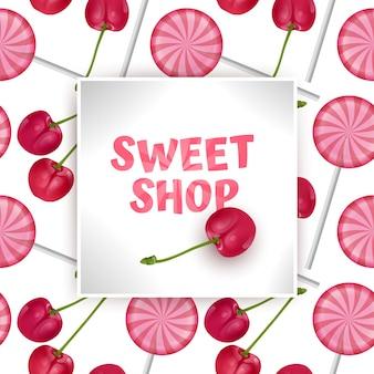 Modèle de boutique de bonbons sucrés