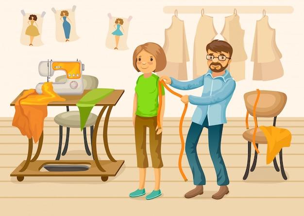 Modèle de boutique de tailleur coloré