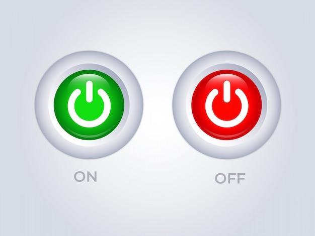Modèle de bouton de mise hors tension