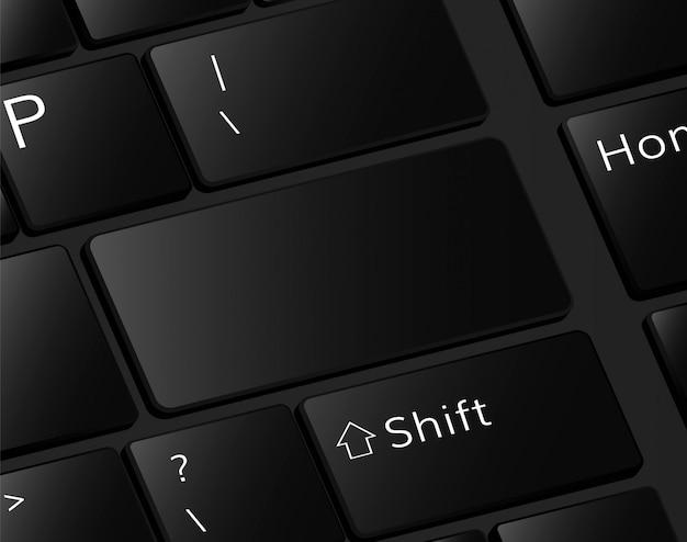 Modèle de boutons de clavier bouton de saisie vide pour le texte bouton vide
