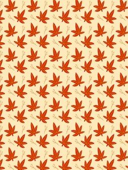 Modèle de branche de feuilles d'automne
