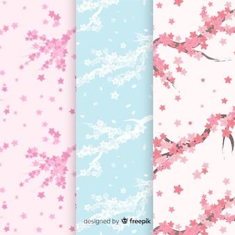 Modèle de branches de fleurs de cerisier