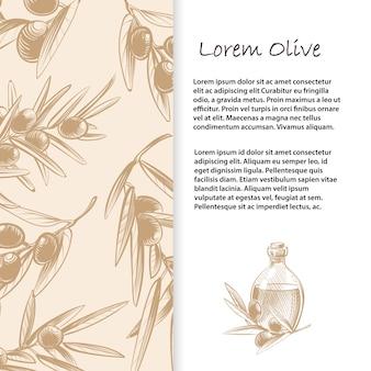 Modèle de branches d'olivier