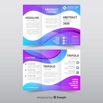 Modèle de brochure abstrait à trois volets