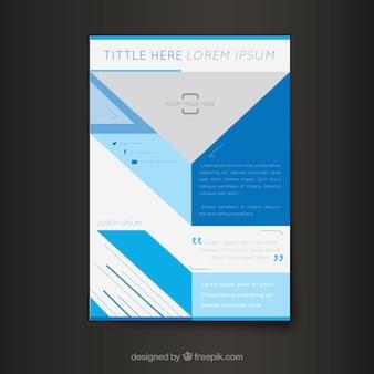 Modèle de brochure abstraite d'entreprise