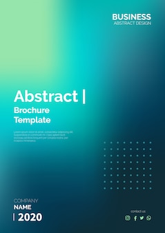 Modèle de brochure abstraite prête à imprimer