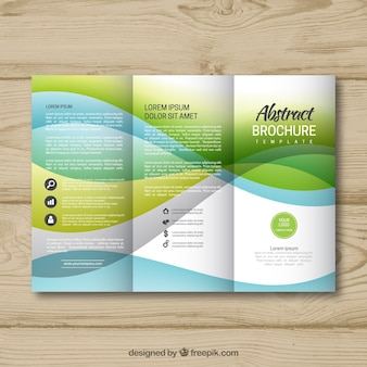 Modèle de brochure abstraite à trois volets
