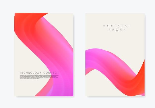 Modèle de brochure abstraite vague