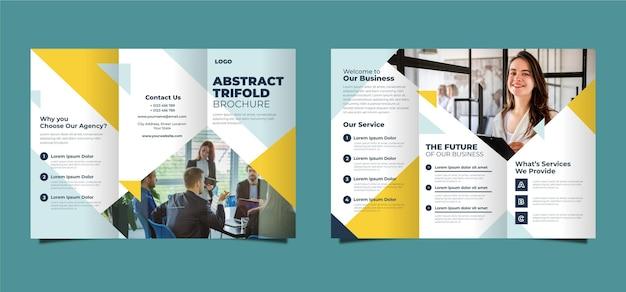 Modèle de brochure abstraite