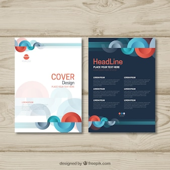 Modèle de brochure d'affaires abstrait