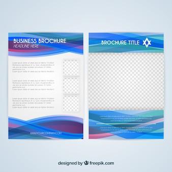 Modèle de brochure d'affaires bleu moderne