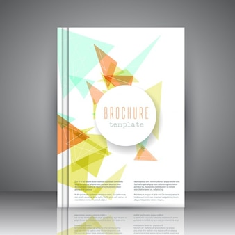 Modèle de brochure d'affaires avec une conception abstraite