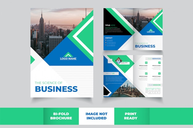 Modèle de brochure d'affaires double