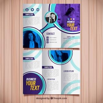 Modèle de brochure d'affaires trifold moderne