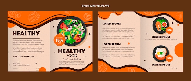 Modèle de brochure alimentaire réaliste