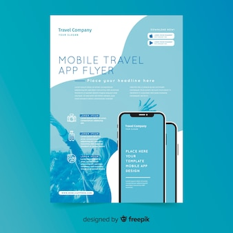 Modèle de brochure d'application mobile