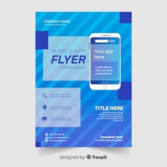 Modèle de brochure d'application plat
