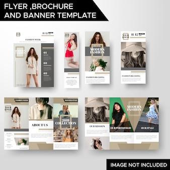 Modèle de brochure et de bannière de flyer créatif business business